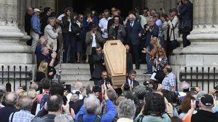 Le 12 août 2019 ont lieu les obsèques du cinéaste Jean-Pierre Mocky, mort à l'âge de 86 ans à Paris. (DOMINIQUE FAGET / AFP)