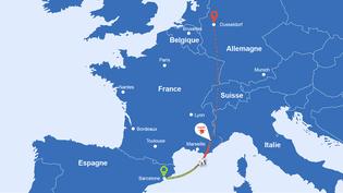 Les lieux où l'A320 de Germanwings s'est écrasé, le 24 mars 2015. (PASCALE BOUDEVILLE / FRANCETV INFO)
