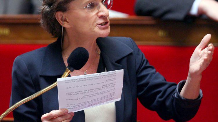 La députée socialiste Michèle Delaunay, le 7 mai 2008 à l'Assemblée nationale. (PIERRE VERDY / AFP)