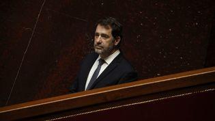Christophe Castaner, à l'Assemblée nationale, le 31 mars 2020. (YOAN VALAT / POOL / EPA POOL)