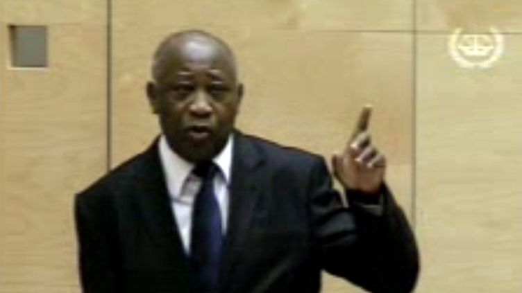 L'ancien président ivoirien Laurent Gbagbo devant la Cour pénale internationale de La Haye (Pays-Bas), le 5 décembre 2011. (INTERNATIONAL CRIMINAL COURT / AFP)
