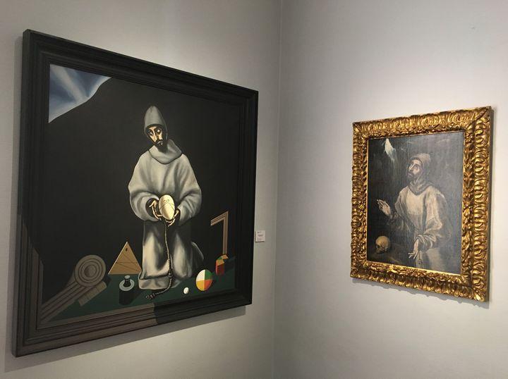"""""""Saint-François recevant les stigmates"""" peinture de Le Greco, 1600 (à droite)  (Musée des Beaux-Arts de Pau )"""