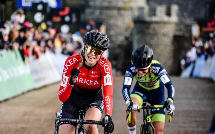 Léa Curinier de l'équipe Arkea féminine