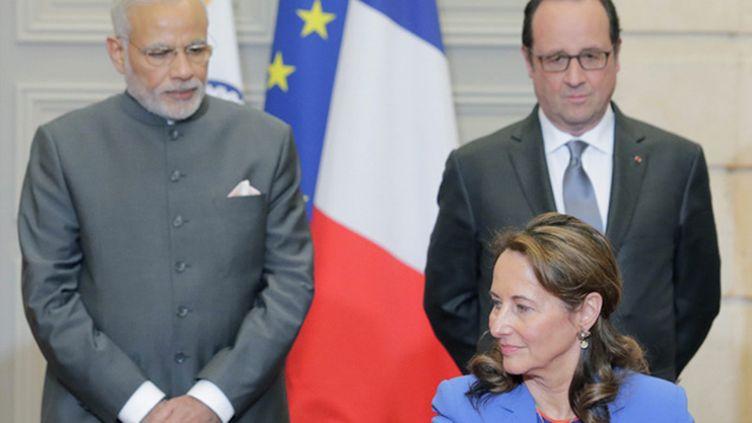 (Comme l'ex-présidente de la région Poitou Charente, Modi veut développer son pays en s'appuyant sur les énergies renouvelables (archives) © Maxppp)