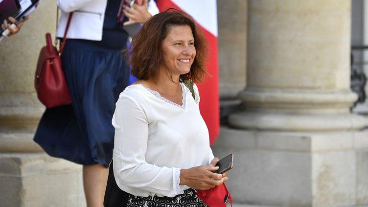 Roxana Maracineanu, au palais de l'Elysée, 25 août 2021, à Paris. (ALAIN JOCARD / AFP)