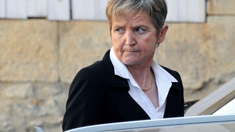L'ancienne préfète de Lozère Françoise Debaisieux, le 13 octobre 2011 au tribunal correctionnel de Mende (Lozère). (PASCAL GUYOT / AFP)
