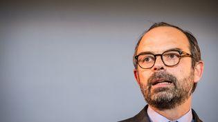 Le Premier ministre Edouard Philippe lors d'un discours, à Lyon (Rhône), le 19 février 2018. (FRANCK CHAPOLARD / CROWDSPARK / AFP)
