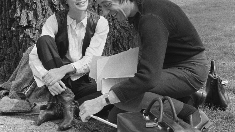 Françoise Hardy et Serge Gainsbourg (© HUGUES VASSAL)