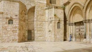 À cause des mesures de confinement prises par le gouvernement israélien, la vieille ville de Jérusalem est totalement vide. (FRANCE 2)
