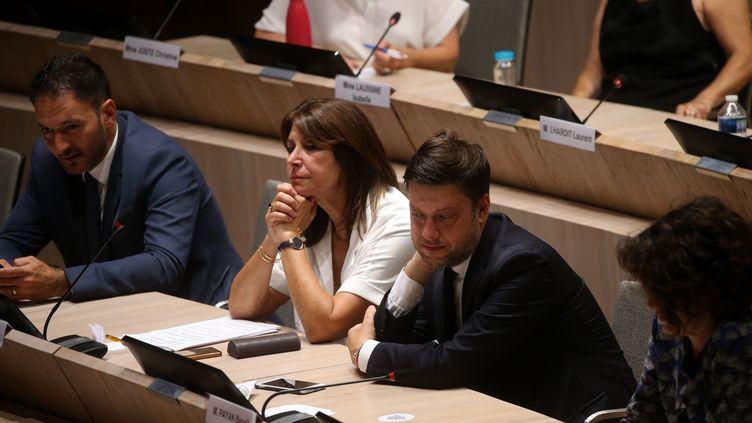 Michèle Rubirola et Benoît Payan lors de l'élection du maire de Marseille, le 4 juillet 2020, à Marseille. (ALAIN ROBERT / SIPA)