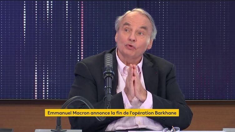 Jean-Louis Bourlanges, le 12 juin 2021, sur franceinfo. (FRANCEINFO / RADIOFRANCE)