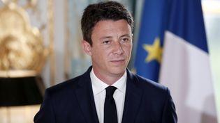 Le porte-parole du gouvernement Benjamin Griveaux à l'Elysée, pendant un séminaire gouvernemental, le 3 janvier 2018. (BENOIT TESSIER / AFP)