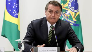 Le président brésilien, Jair Bolsonaro, à Brasilia, le 27 août 2019. (MARCOS CORREA / BRAZILIAN PRESIDENCY / AFP)