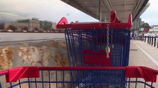 Supermarchés : des magasins suppriment les jetons des caddies (FRANCE 2)
