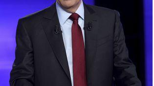 François Fillon lors du dernier débat télévisé avec Alain Juppé avant le second tour de la primaire de la droite, le 24 novembre 2016. (ERIC FEFERBERG / AP / SIPA)