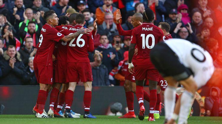 Liverpool a vaincu Fulham 2-0 (GEOFF CADDICK / AFP)