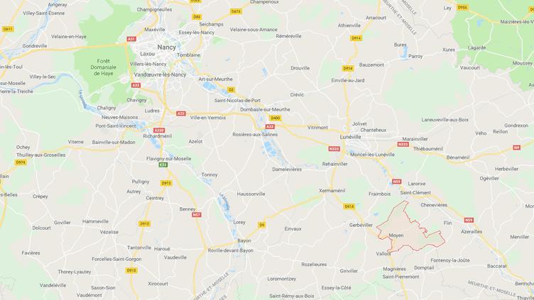La ville de Moyen (Meurthe-et-Moselle). (GOOGLE MAPS / FRANCEINFO / RADIO FRANCE)