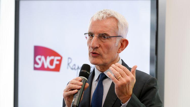 Guillaume Pepy, le patron de la SNCF (ERIC PIERMONT / AFP)