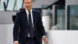 Massimiliano Allegri face à Empoli le 28 août dernier. (ISABELLA BONOTTO / AFP)