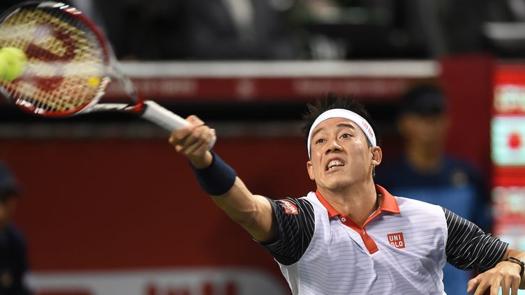 Kei Nishikori a un joli coup à jouer à Tokyo (TORU YAMANAKA / AFP)