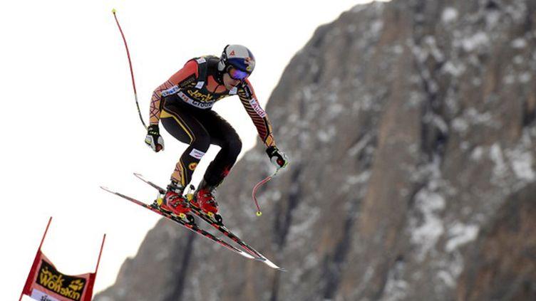 Erik Guay sur la piste de Val Gardena (OLIVIER MORIN / AFP)