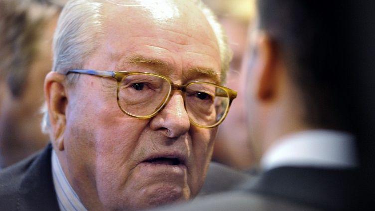 Jean-Marie Le Pen, le 19 février 2012. (PHILIPPE HUGUEN / AFP)