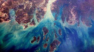 Le delta du Saloum, au Sénégal, est classé patrimoine mondial de l'Unesco. (ESA / NASA / THOMAS PESQUET)