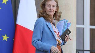 Nicole Belloubet, le 4 avril 2018 au palais de l'Elysée à Paris. (LUDOVIC MARIN / AFP)
