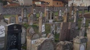 Bas-Rhin : un cimetière juif a été profané (CAPTURE D'ÉCRAN FRANCE 2)