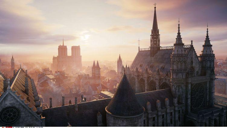 Une vue de Paris issue du jeu vidéo Assassin's Creed Unity. (AP/SIPA / AP)