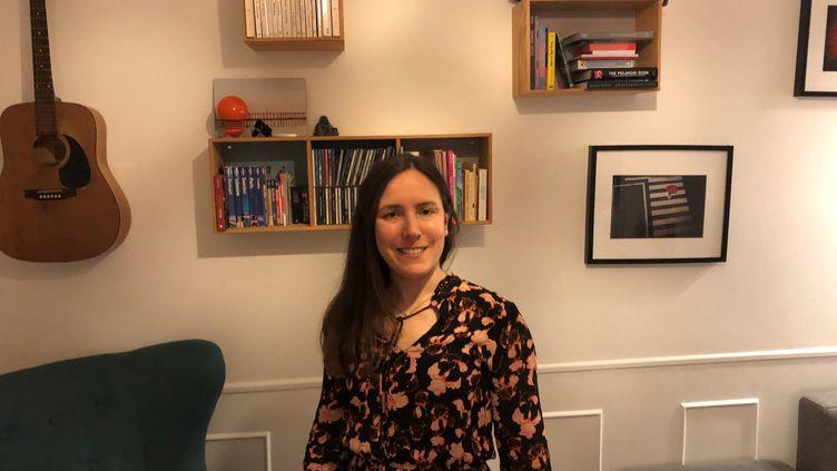 Célia Curdy-Neves, confinée chez elle au Danemark, le 27 mars 2020. (CELIA NEVES)