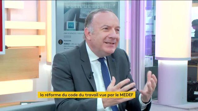 """Invité de Jean-Paul Chapel dans """":L'éco"""", jeudi 29 juin, Pierre Gattaz, président du MEDEF, donne son avis sur la future loi travail."""
