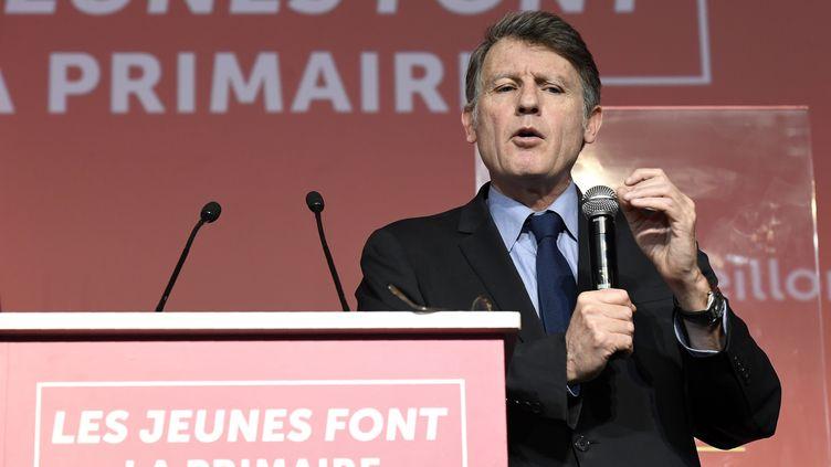 Vincent Peillon, candidat à la primaire de la gauche, le 14 janvier 2017 à Paris. (BERTRAND GUAY / AFP)
