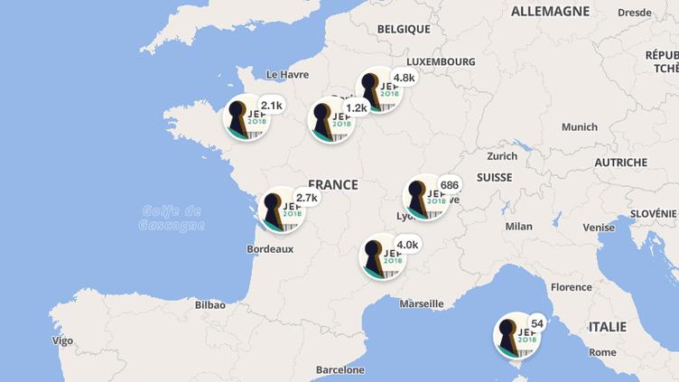 Près de 17 000 monuments sont ouverts au public en France, les 15 et 16 septembre 2018, à l'occasion des Journées européennes du patrimoine. (JOURNEES EUROPEENNES DU PATRIMOINE / MINISTERE DE LA CULTURE)