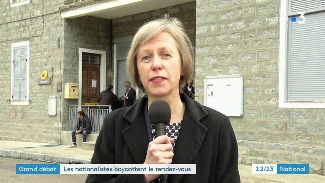 Grand débat : les nationalistes corses boycottent le rendez-vous