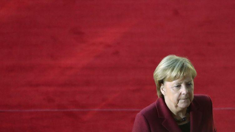 La chancelière allemande Angela Merkel arrive à un sommet européen à Bruxelles, le 13 décembre 2018.  (YVES HERMAN / REUTERS)