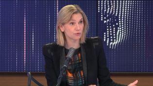 """Agnès Pannier-Runacher, ministre chargée de l'Industrie, était l'invitée du """"8h30 franceinfo"""", lundi 16 novembre 2020. (FRANCEINFO / RADIOFRANCE)"""