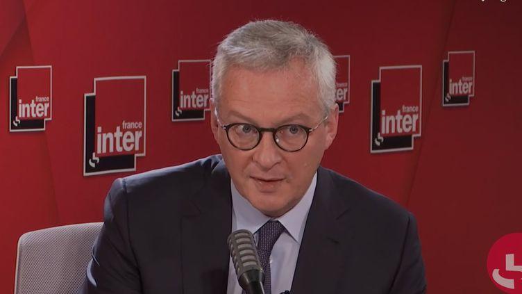 Le ministre de l'Économie, des Finances et de la Relance, Bruno Le Maire, sur France Inter le 29 septembre 2020. (FRANCEINTER / RADIOFRANCE)