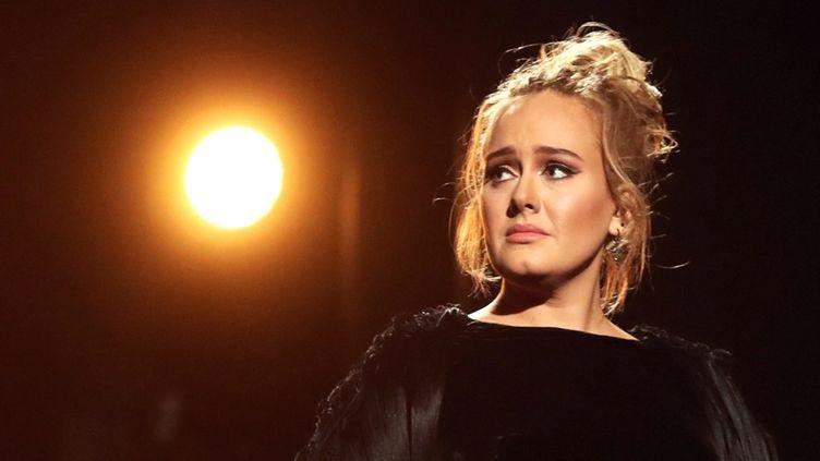 Adele aux Grammy Awards, le 12 février 2017 à Los Angeles  (Christopher Polk / Getty Images / AFP)