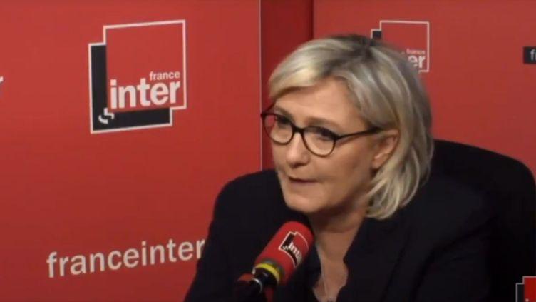 Marine Le Pen, mardi 27 février sur France Inter. (RADIO FRANCE)