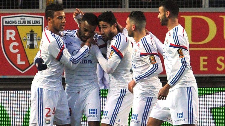 Vingtième but pour Alexandre Lacazette en 21 matches de Ligue 1 cette saison (FRANCOIS LO PRESTI / AFP)