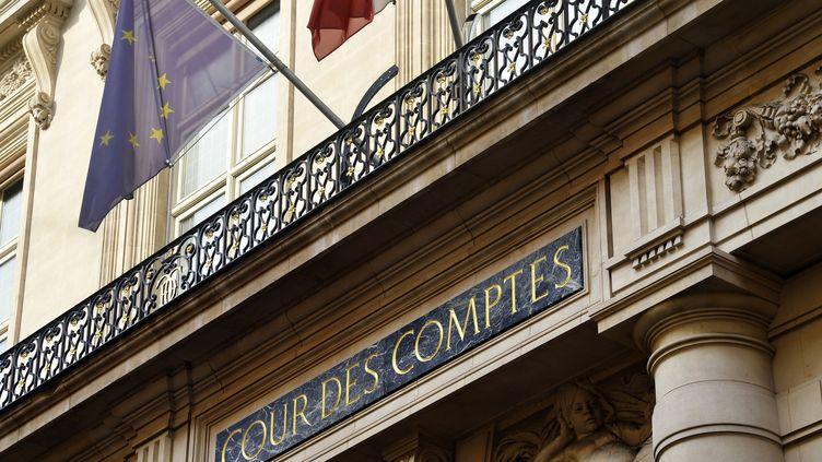 La façade d'entrée de la Cour des comptes à Paris, le 20 septembre 2016. (BERTRAND GUAY / AFP)