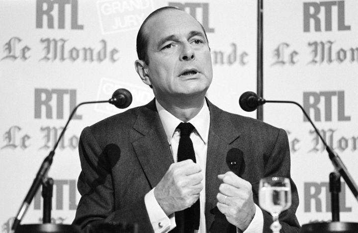 Le Premier ministre Jacques Chirac, le 14 septembre 1986, à Paris. (BRUNO LEVY / AFP)