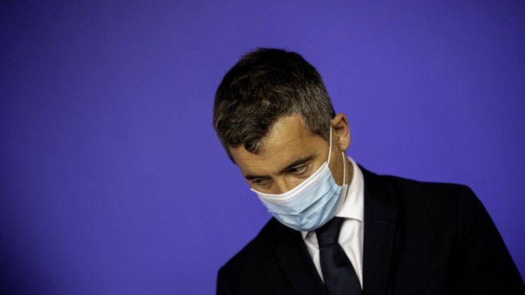 Le ministre de l'Intérieur Gérald Darmanin, le 20 mai 2021 à Nantes (Loire-Atlantique). (ESTELLE RUIZ / HANS LUCAS / AFP)