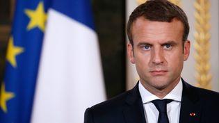 Emmanuel Macron, le président de la République (GONZALO FUENTES / AFP)