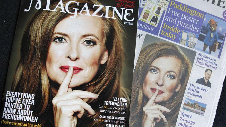 L'ex-compagne de François Hollande, Valérie Trierweiler, fait la unedu Times Magazine dans lequel elle donne une interview, le 22 novembre 2014. ( SIPA)