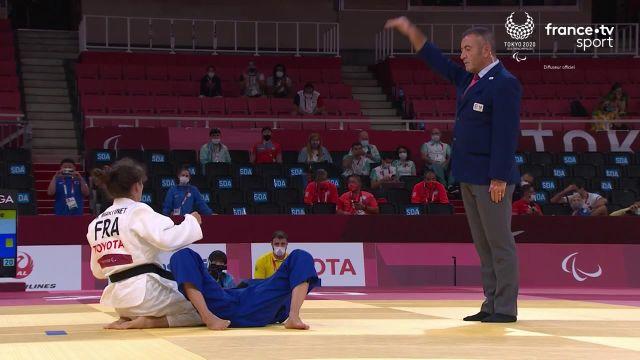 La porte drapeau française se battra pour la médaille d'or à partir de 9h après avoir écarté l'Ukrainienne Yuliia Ivanytska.