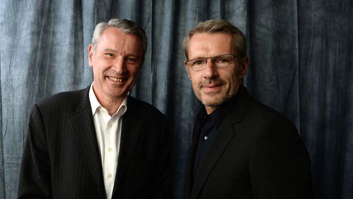 Olivier-René Veillon et Lambert Wilson le 16 avril 2013 au 17eCity Of Lights, City Of Angels Film Festival  (Michael Buckner / AFP)