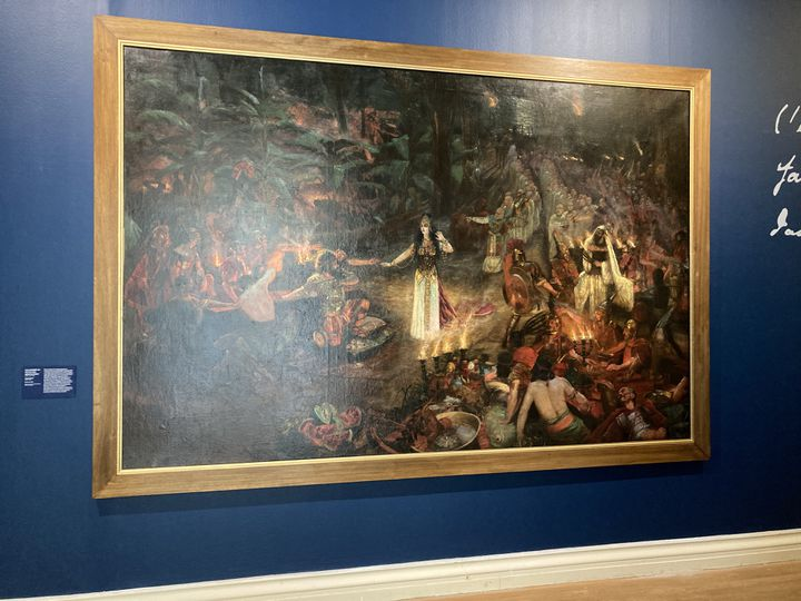 """Antoine Druet """"Salammbô au festin des mercenaires"""", 1890-1894, exposition""""Salammbô Fureur ! Passion ! Eléphants"""", le 25 mai 2021 (Laurence Houot / franceinfo Culture)"""