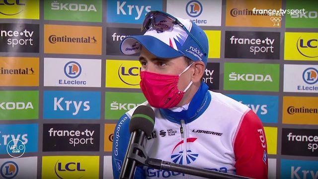 David Gaudu n'est pas parvenu à aller au bout malgré sa belle attaque dans le Tourmalet. Il ne retient que le positif de cette 18e étape du Tour de France.